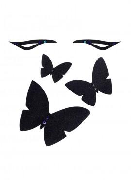 Coffret - L'envolée de papillons - black glitters